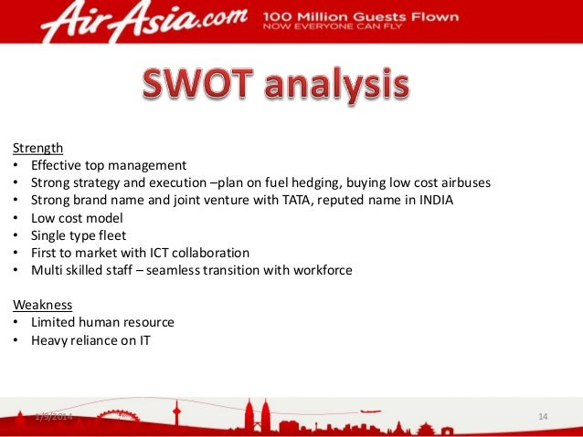 strengths and weaknesses of airasia Below is an essay on strength and weakness of airasia from anti essays, your  source for research papers, essays, and term paper examples.