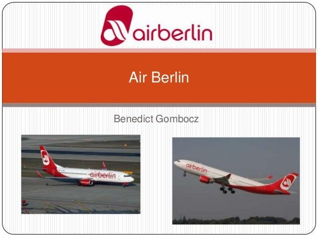 Air Berlin Benedict Gombocz