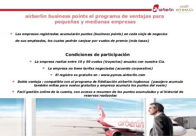 airberlin business points el programa de ventajas para pequeñas y medianas empresas  Las empresas registradas acumularán ...