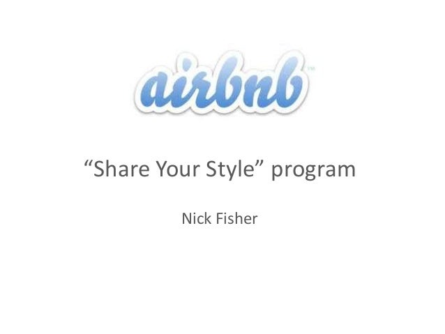 """Share Your Style"" programNick Fisher"