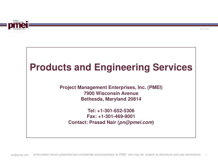 April 2006                   Products and Engineering Services                                  Project Management Enterpr...