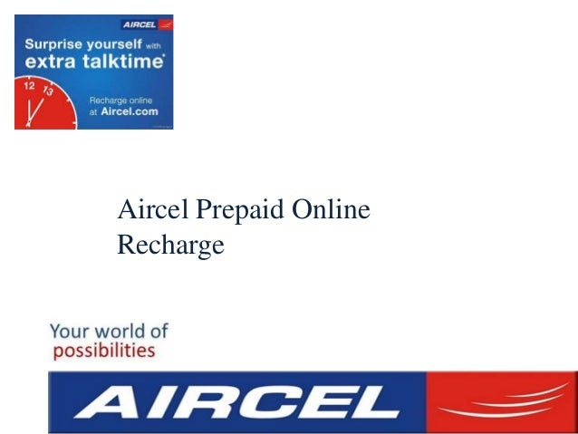 Aircel Prepaid Online Recharge Offers