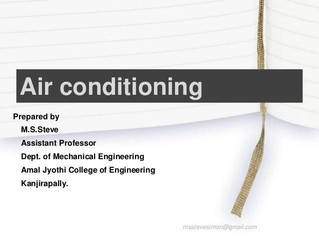 Basic Mechanical Engineering - Air conditioning
