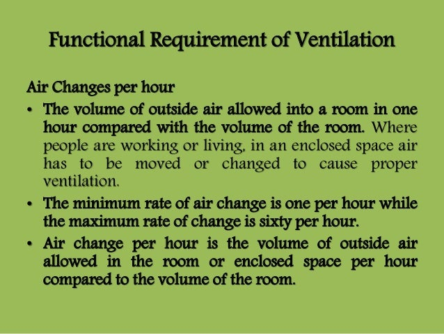 Air Changes Per Hour : Air conditioning hvac systems
