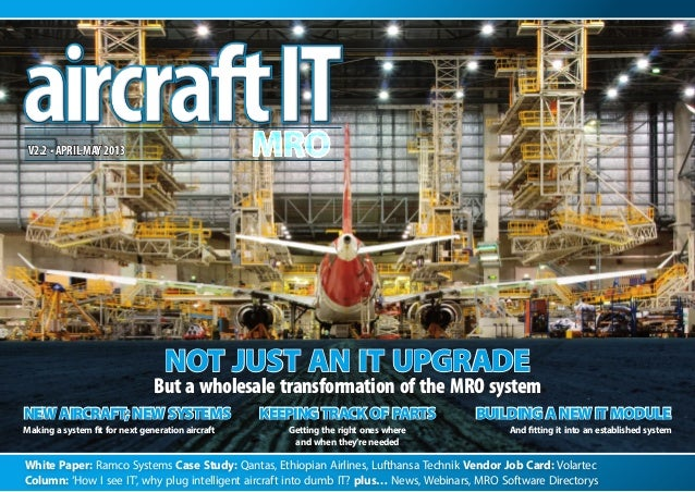 "Aircraft IT MRO eJournal ""Smart Aircraft Need Smart IT"" How I See IT"