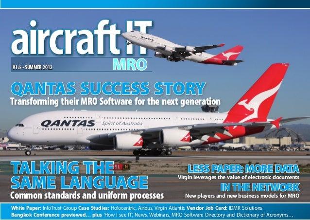 White Paper: InfoTrust Group Case Studies: Holocentric, Airbus, Virgin Atlantic Vendor Job Card: IDMR Solutions Bangkok Co...
