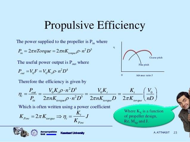 Propulsive Efficiency Propeller 23 Propulsive Efficiency