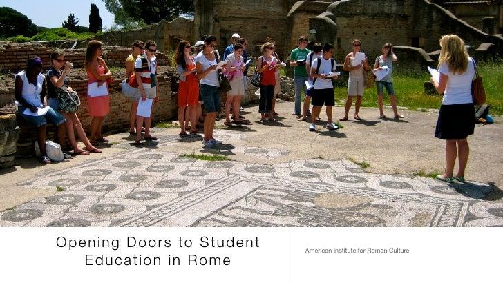 Airc Rome Study Abroad Programs