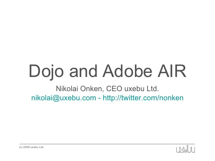 Dojo and Adobe AIR