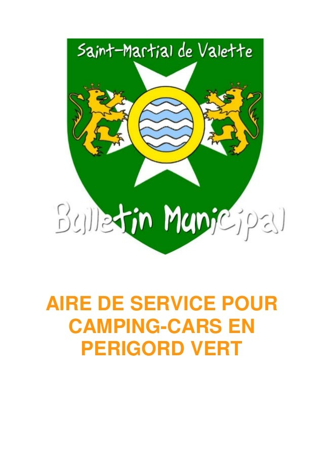 AIRE DE SERVICE POUR CAMPING-CARS EN PERIGORD VERT
