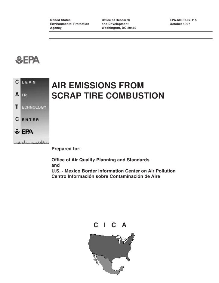 Air Emissions From Scrap Tire Combustion
