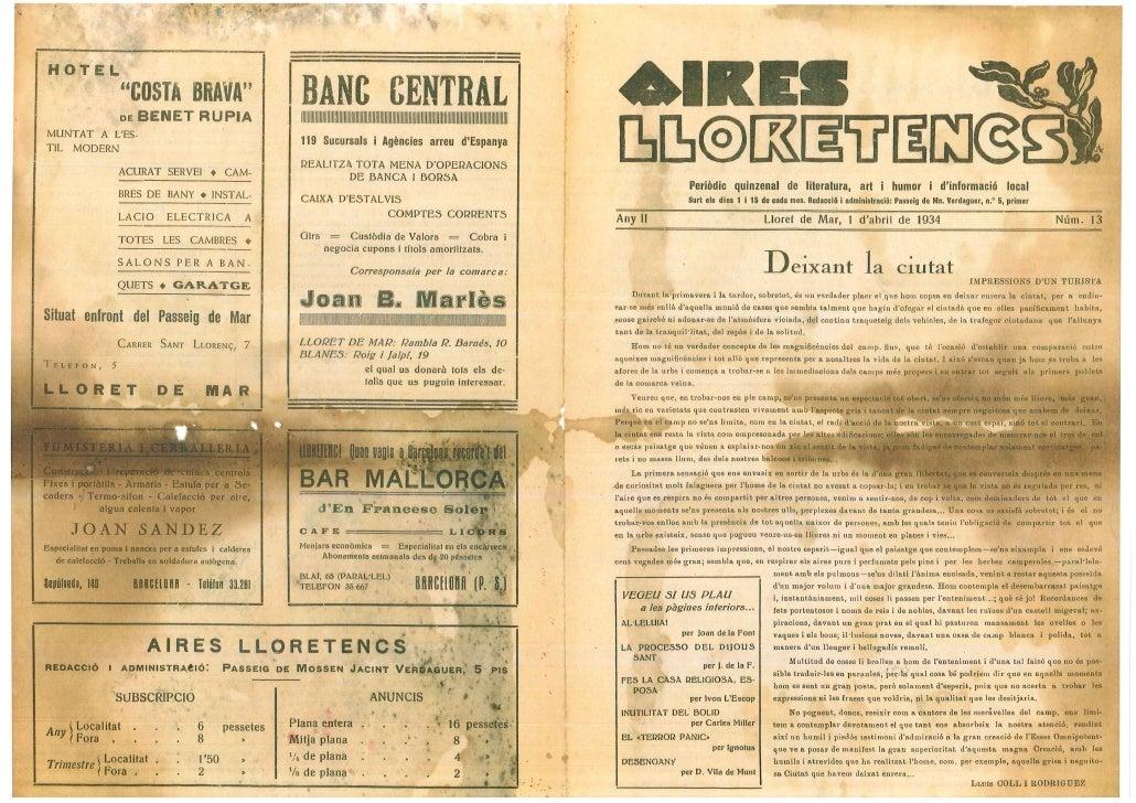 Aires lloretencs 1 abril 1934 nº 13