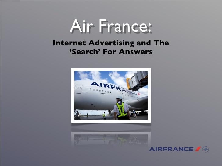 air france internet marketing