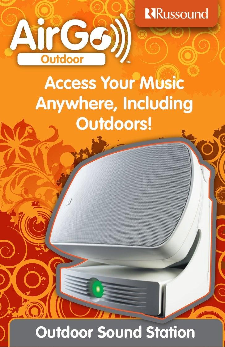 AirGo Outdoor Sound Station Brochure