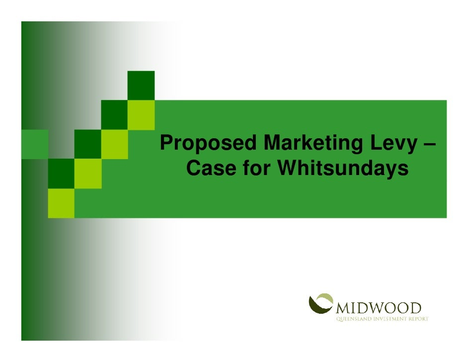 Tourism Marketing Levy - Case for the Whitsundays