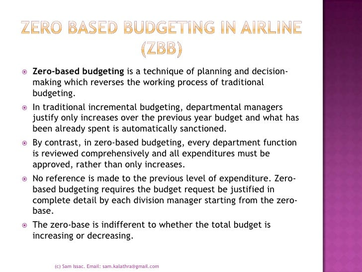 zero based budgeting essay Defines zero-based budgeting (zbb) and explains how it works provides a history of zbb discusses the role of jimmy carter as governor of georgia and president of.
