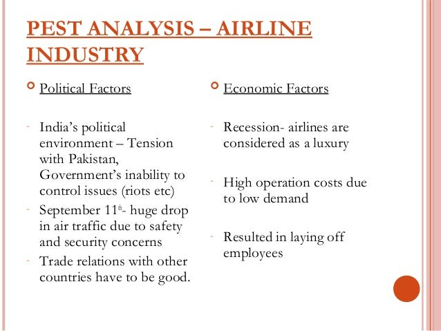 Airline Industry 7 Ps