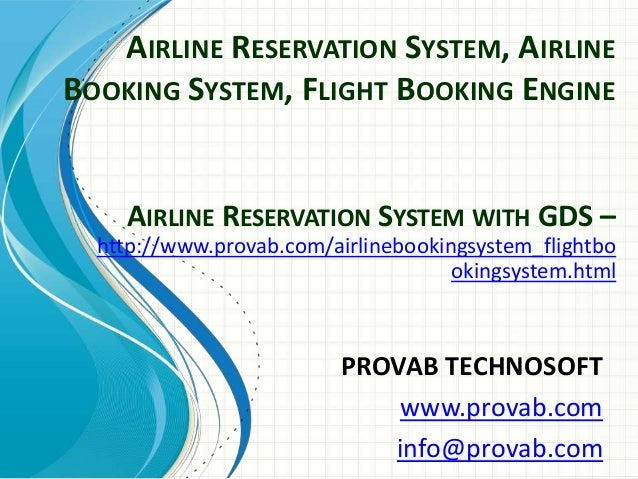 Airline Reservation System, Airline Booking System, Flight Booking Engine