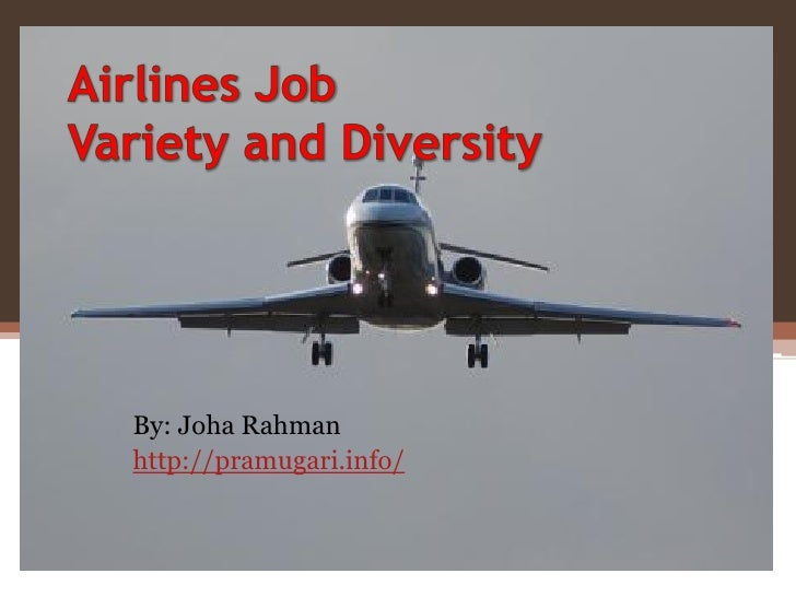 Airlines job variety and diversity