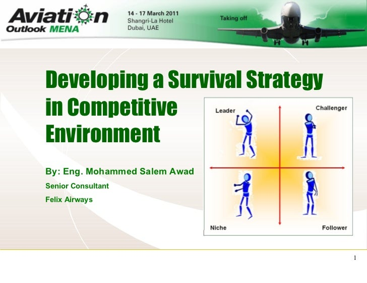 Developing a Survival Strategy   By: Eng. Mohammed Salem Awad Senior Consultant Felix Airways in Competitive Environment