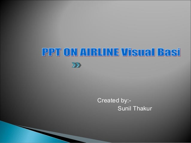 Airline system ppt