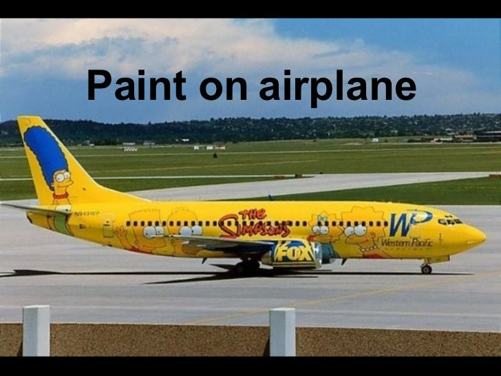 Paint on  airplane