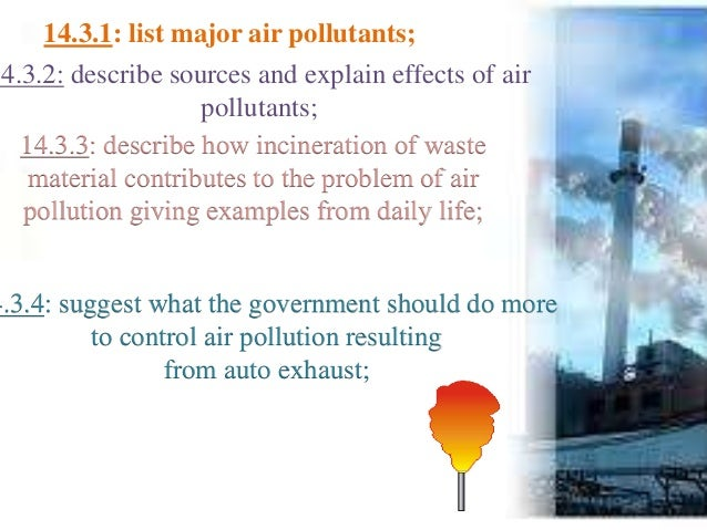 statement of the problem about air pollution Air pollution has been recognized as a problem for 2000 years which of the following industries is the largest producer a primary air pollutants in the united states electricity production.