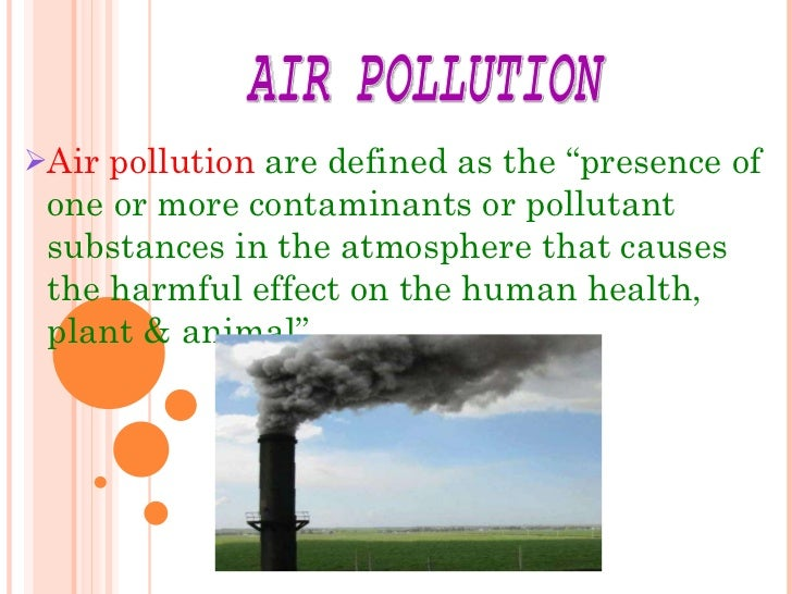 problems of pollution essay
