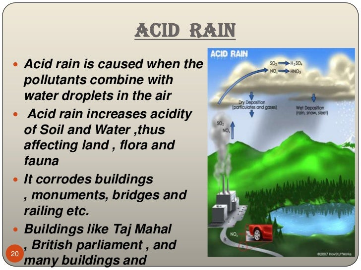 essay acid rain pollution The regions affected more by acid rain are large parts of eastern north america, scandinavia, and central europe in many of places acid rain isn't a problem because some soils can neutralize the acid and it doesn't affect the crops.