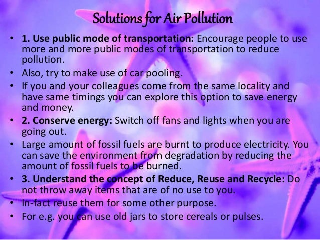 Air Pollution - Short Essay - 417 Words - StudyMode