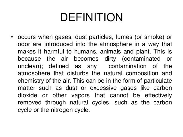 pollution short essay