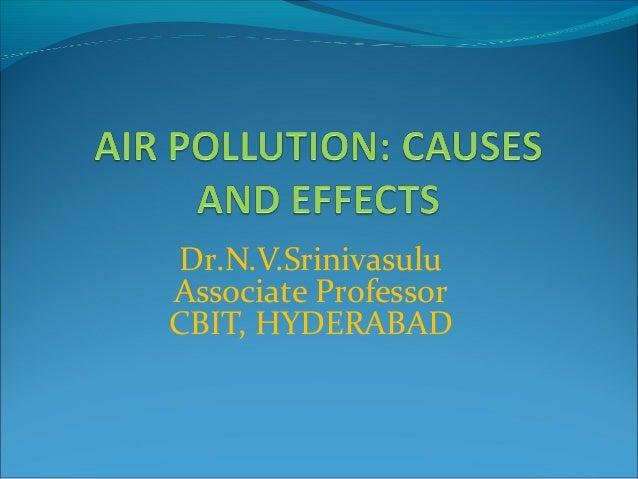 Dr.N.V.Srinivasulu Associate Professor CBIT, HYDERABAD