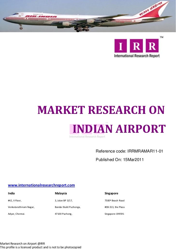 MARKET RESEARCH ON                                                           INDIAN AIRPORT                               ...