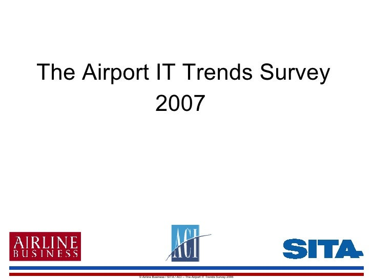 Airport It Trends Survey 2007
