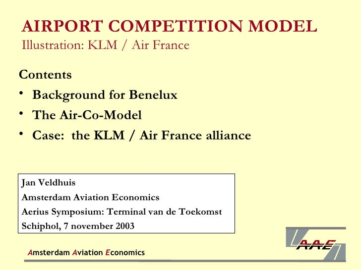Airport competition model