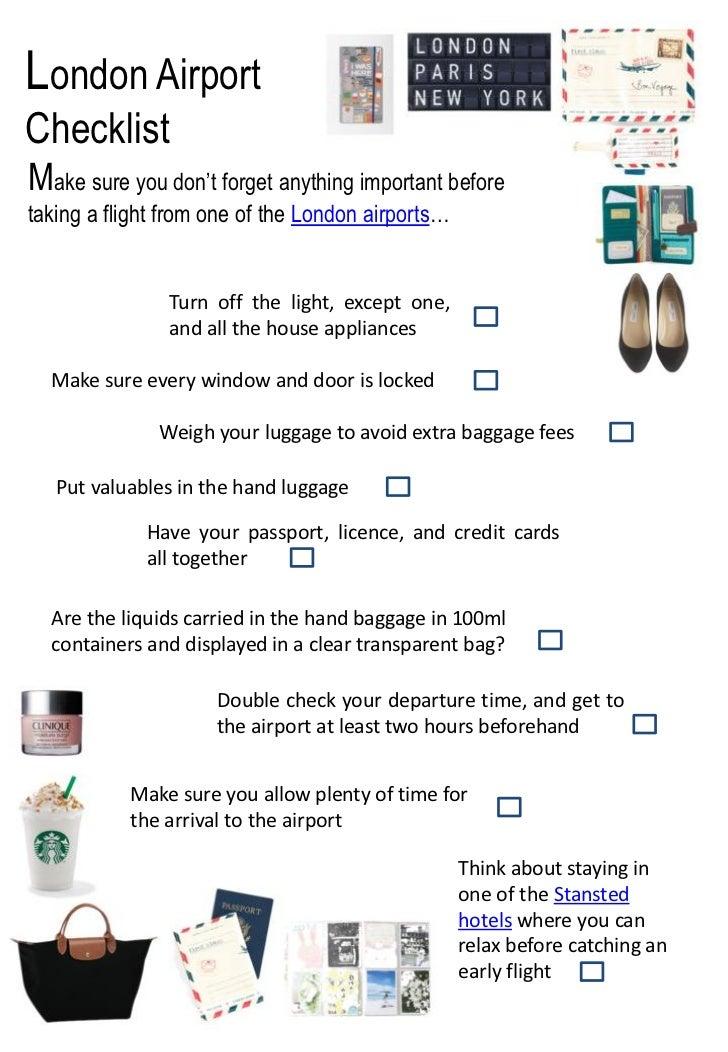 Airport essentials checklist