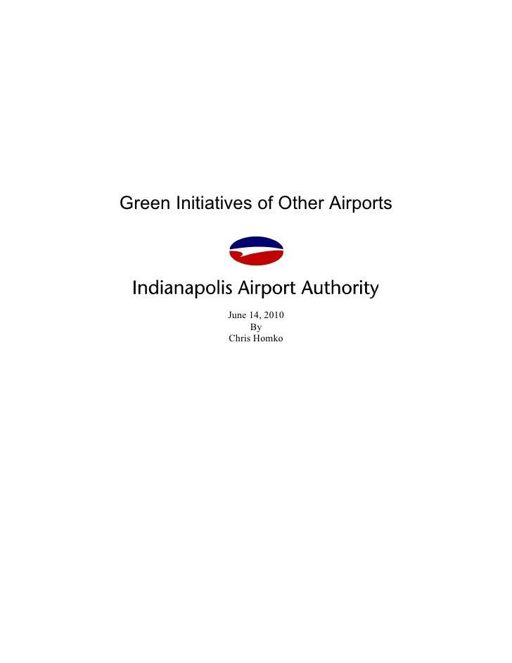 U.S. Airport  Green Initiatives
