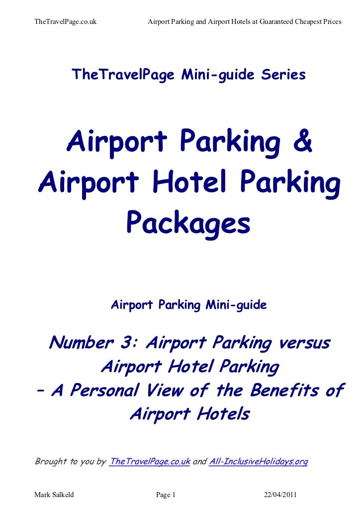 Airport parking versus airport hotel parking