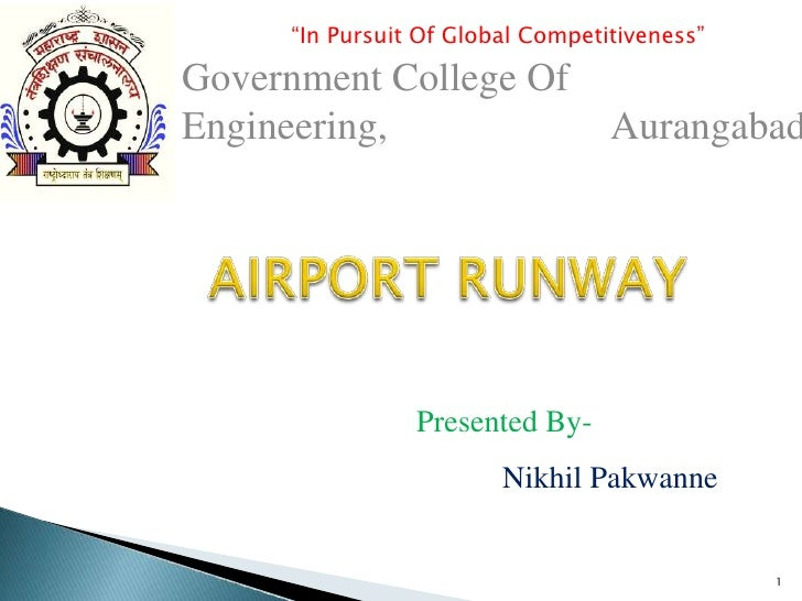 """""""In Pursuit Of Global Competitiveness""""Government College OfEngineering,                      Aurangabad                Pre..."""