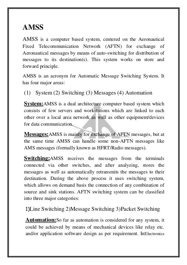aeronautical fixed telecommunication network manual