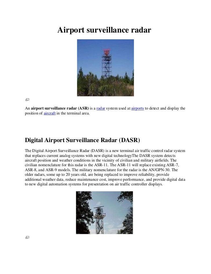 Airport surveillance radar<br />                                                  <br />An airport surveil...