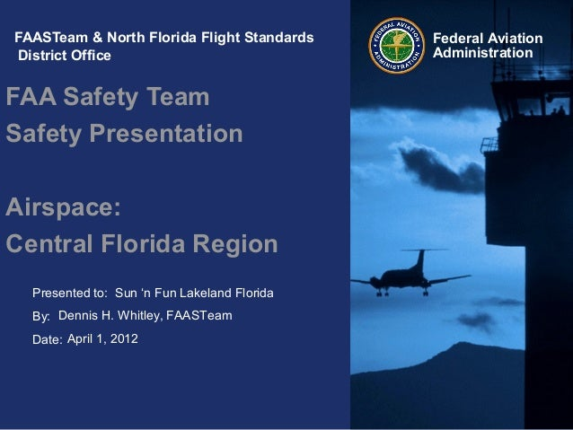 Presented to:By:Date:Federal AviationAdministrationFAASTeam & North Florida Flight StandardsDistrict OfficeFAA Safety Team...