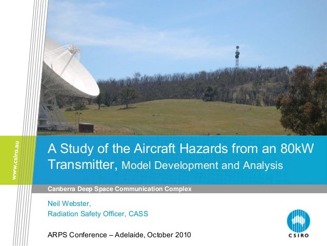 A Study of the Aircraft Hazards from an 80kW Transmitter, Model Development and Analysis Canberra Deep Space Communication...