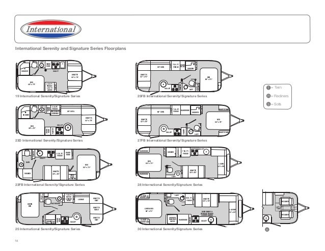 Airstream travel trailers 2013 brochure for 18 foot travel trailer floor plans