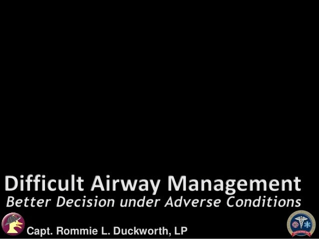 Difficult Airway Management for EMS