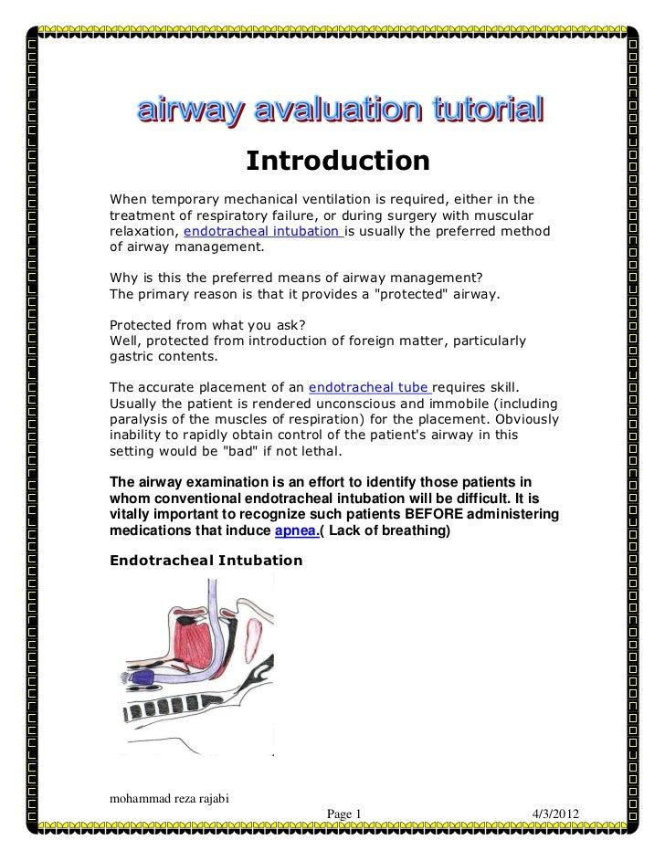 Airway manegement