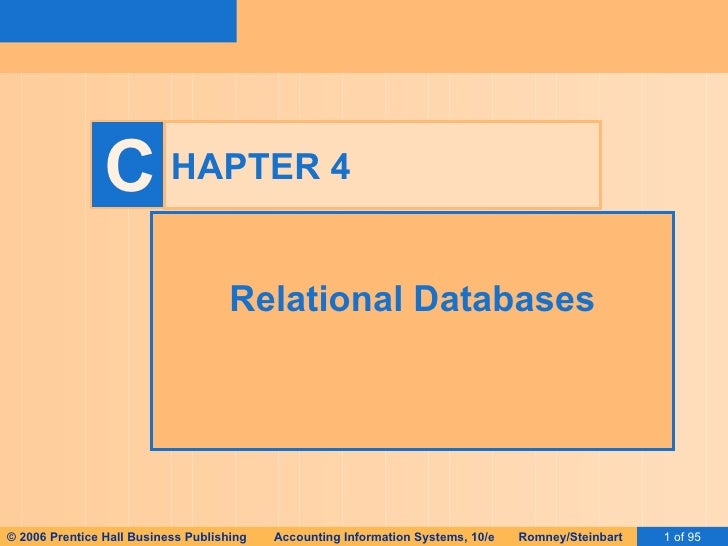 HAPTER 4 Relational Databases