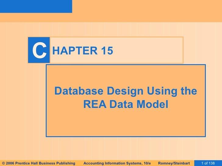 HAPTER 15 Database Design Using the REA Data Model