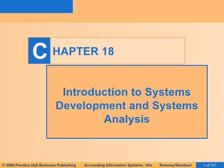 HAPTER 18 Introduction to Systems Development and Systems Analysis