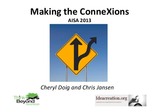 Making	   the	   ConneXions 	    AISA	   2013 	     Cheryl	   Doig	   and	   Chris	   Jansen	    1